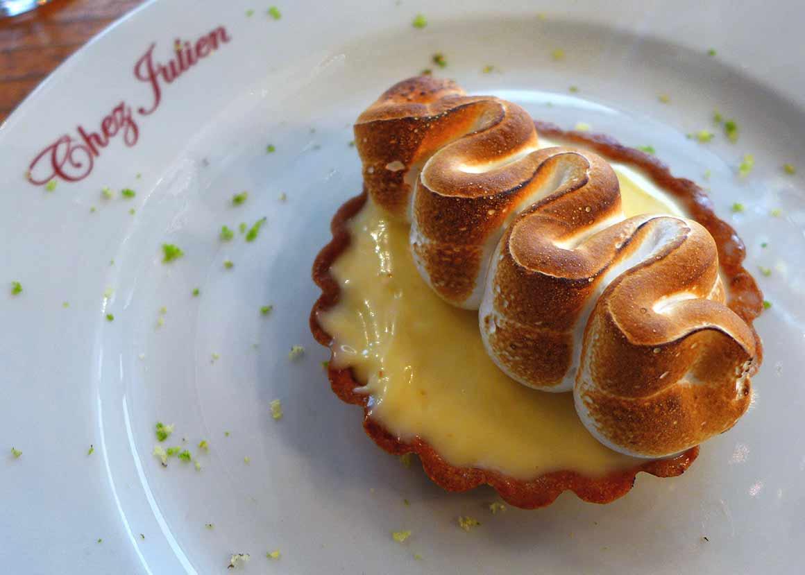 Restaurant Chez Julien, tartelette au citron meringuée