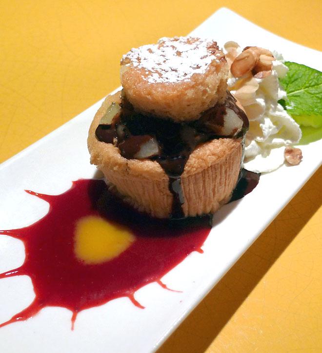Restaurant Louis Vins, biscuit moelleux aux poires