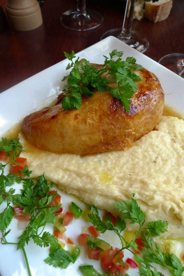 Restaurant Verbalon, Poulet rôti et purée