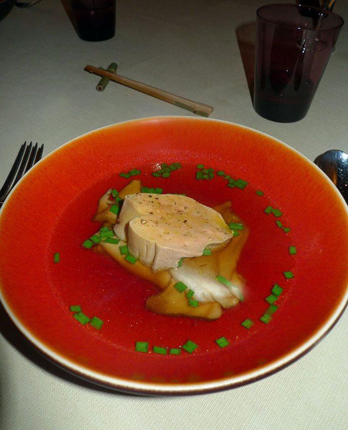 Restaurant Yam Tcha, foie gras poché