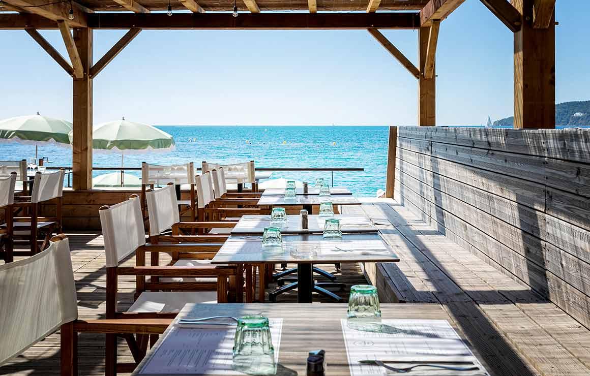 Restaurant Il Parasole vue sur la mer