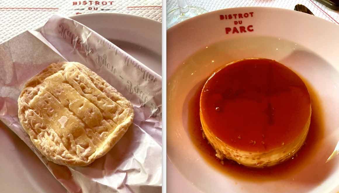 Le Bistrot du Parc Saint-Marcelin et crème caramel