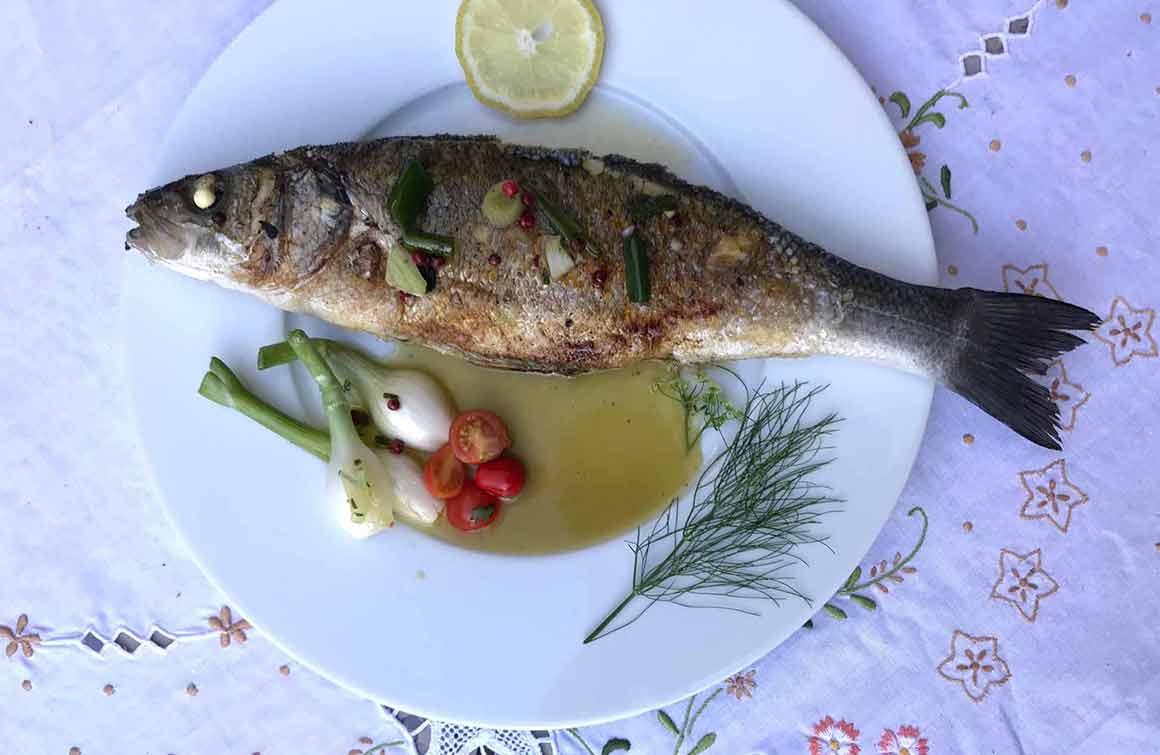 Restaurant Le Jardin des Ifs poisson rôti