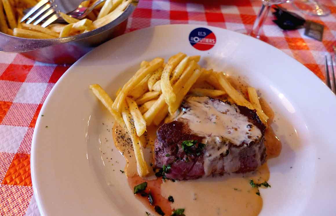 Restaurant Les Marches filet au poivre