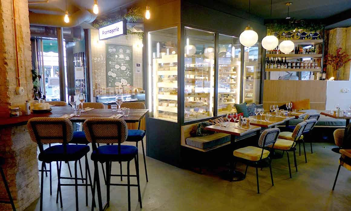Fromagerie Monbleu, La salle du restaurant