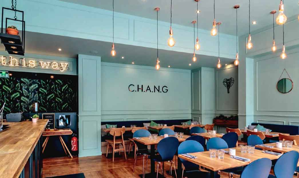 Restaurant Chang, ambiance moderne et chaleureuse