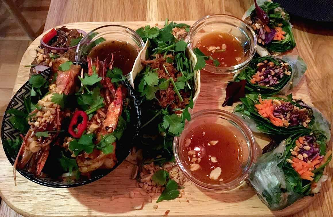 Restaurant Chang, planche de tapas thaï
