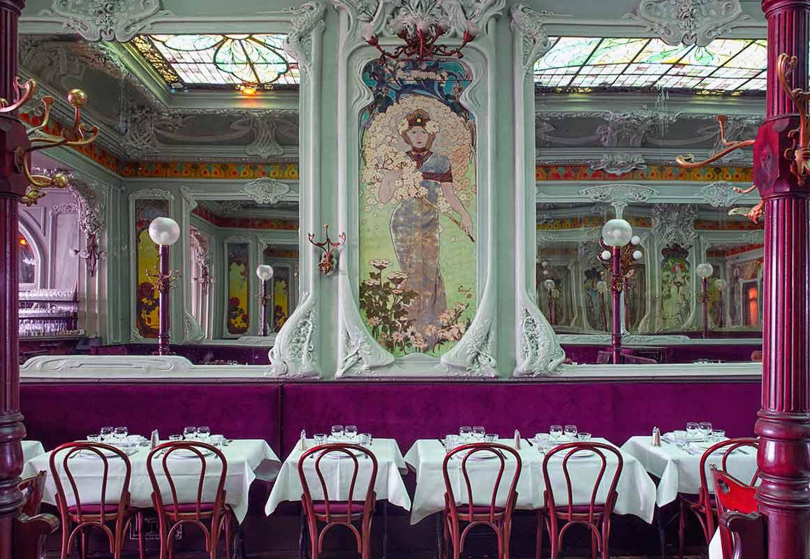 Restaurant Bouillon Julien, La salle