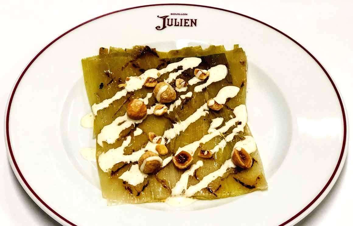Restaurant Bouillon Julien, Poireau vinaigrette