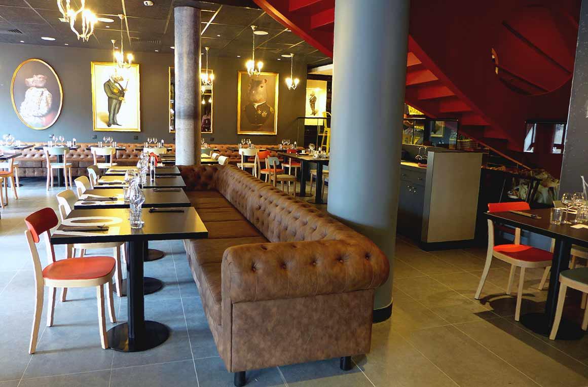 Restaurant Hippopotamus, la salle