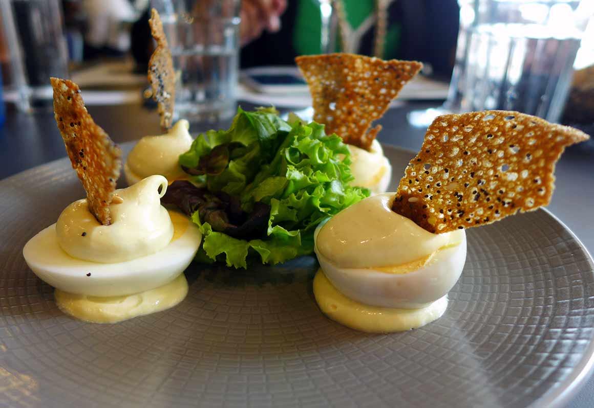 Restaurant Hippopotamus, les oeufs mayonnaise