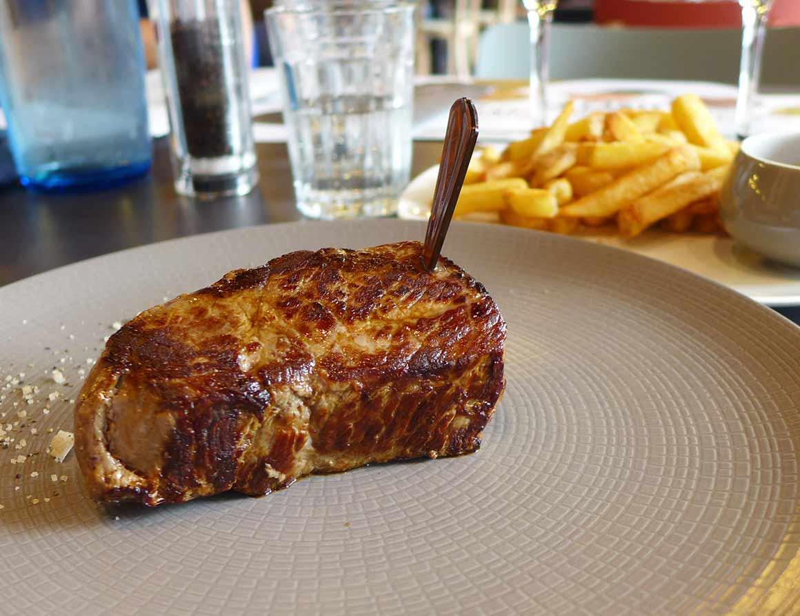 Restaurant Hippopotamus, coeur de rumsteack façon tournedos