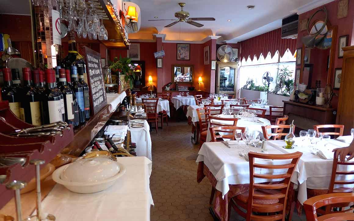 Restaurant Fellini, la salle