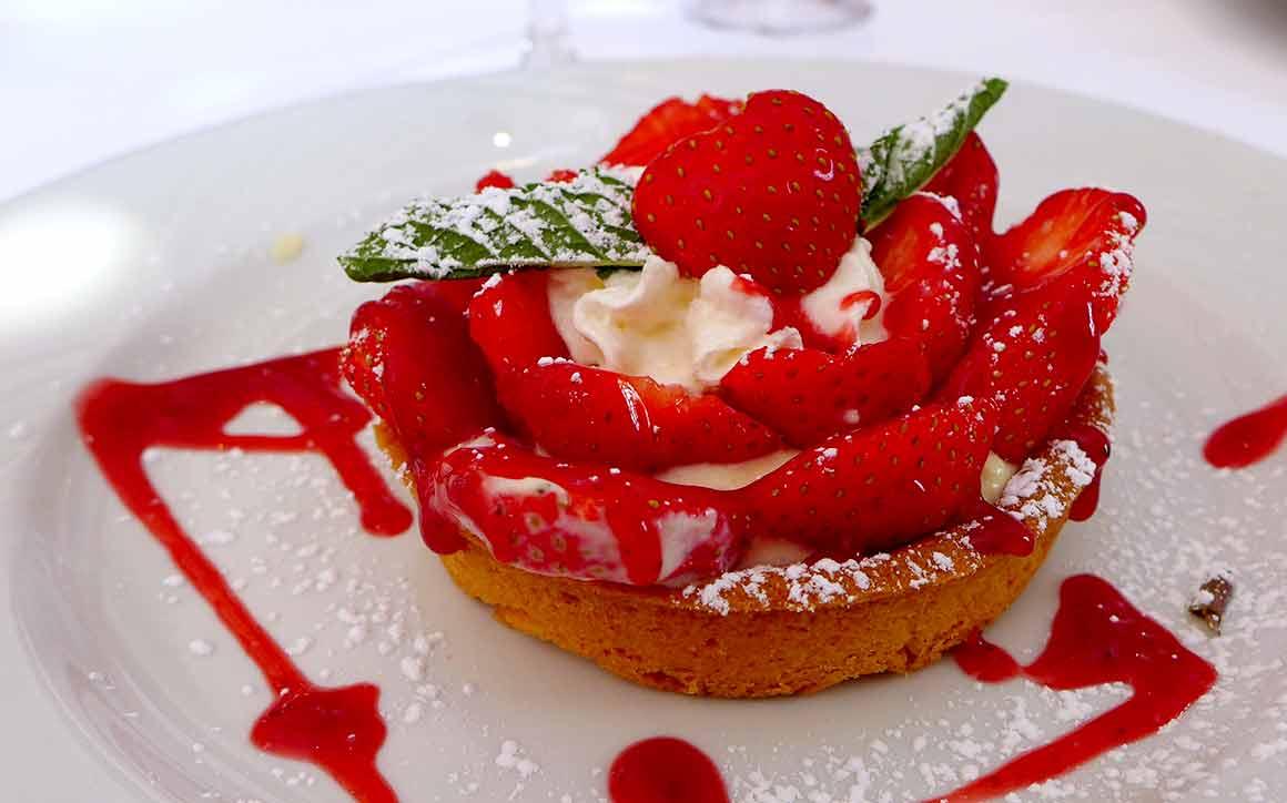 Restaurant Fellini, La tarte aux fraises