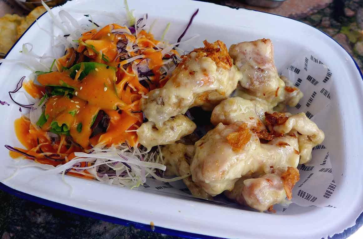 Restaurant On The Bab, poulet frit à la coréenne