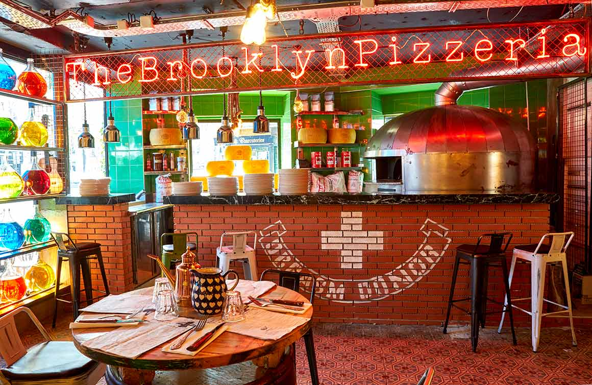 The Brooklyn Pizzeria, la salle