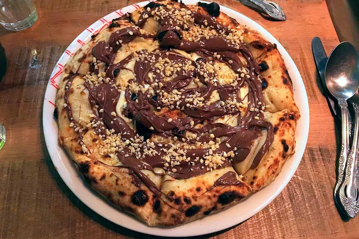 The Brooklyn Pizzeria, pizza au nutella